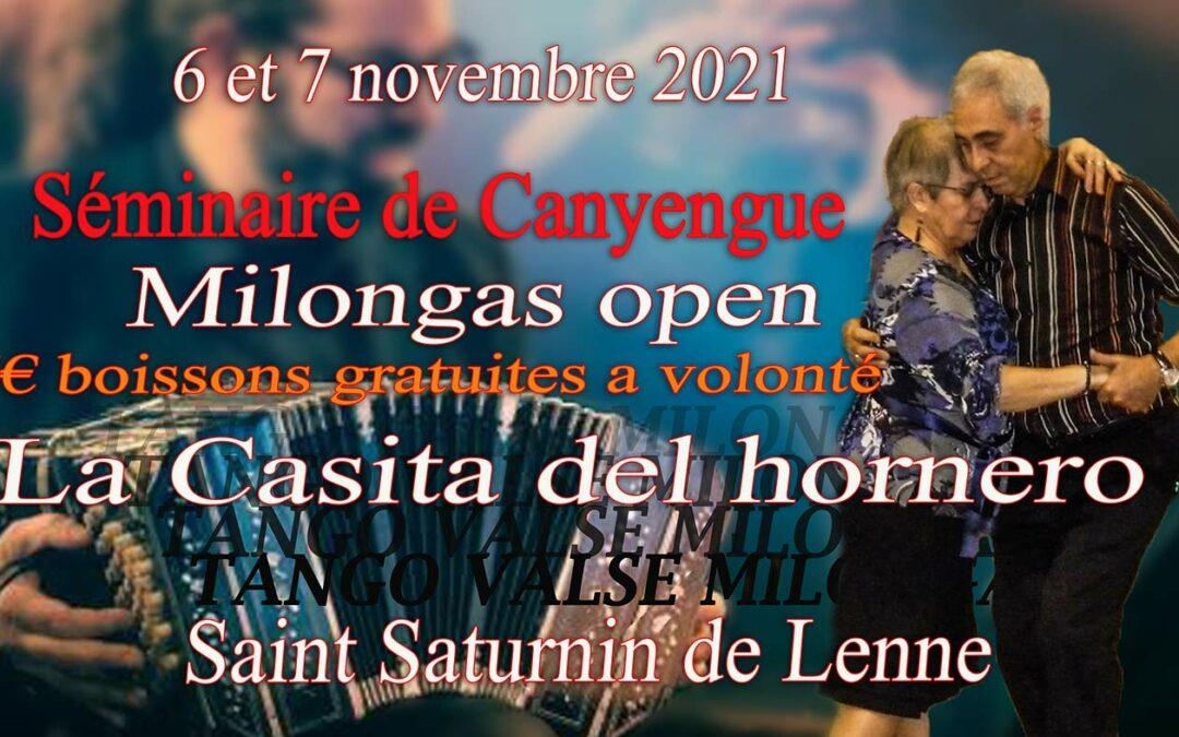 Stages et milongas 06 et 07 novembre 2021