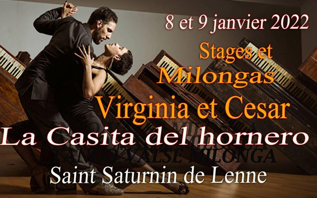 Stages et milongass 8 et 9 janvier 2022