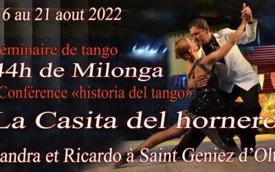 L'été du tango du 16 au 21 aout 2022